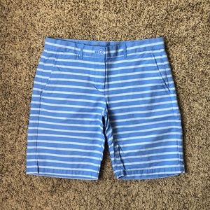Gap Striped Boyfriend Roll Up Khaki Shorts Size 2